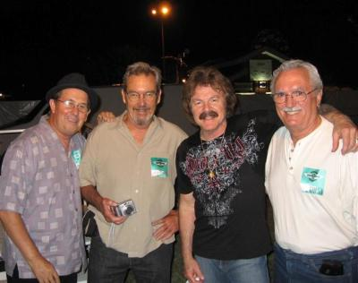 Tom Johnston (3rd from L) with Ray Baradat (4th from L)