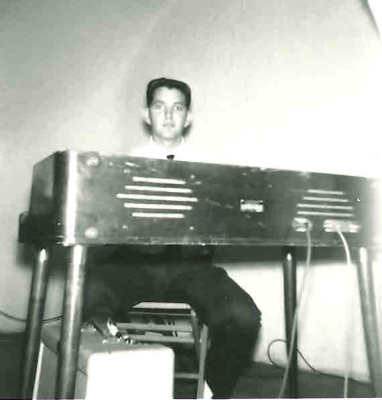 Denny Price and his new  Wurlitzer electronic piano.